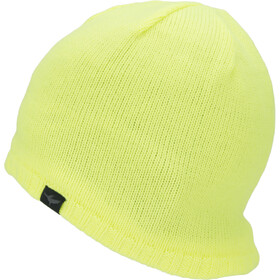 Sealskinz Waterproof Cold Weather Muts met klep, neon yellow
